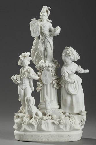 - Group in Paris porcelain (Locre) circa 1791