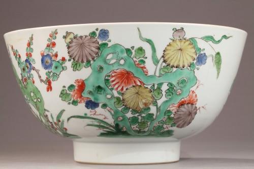 Famille Verte bowl, Kangxi period 1662 - 1722 - Porcelain & Faience Style