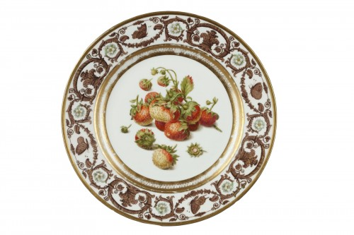Sèvres plate from the Prince de Polignac, given to him in 1824