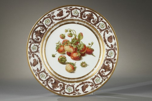 Sèvres plate from the Prince de Polignac, given to him in 1824 - Restauration - Charles X