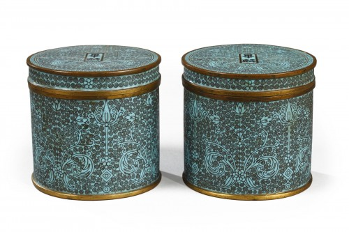 Pair of cloisonne boxes, China, second half of 19th century