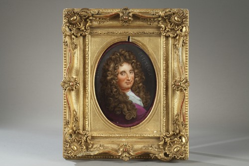 - Paris porcelain, portrait of Boileau. 19th century