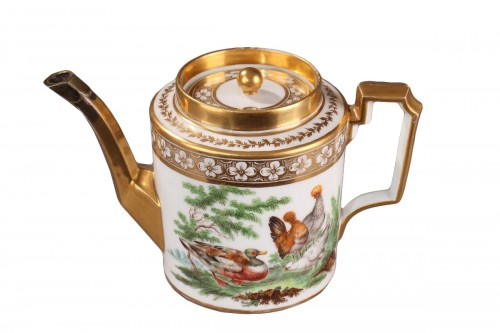 Teapot from Cretee Manufacture in Bruxelles, End of 18th century.