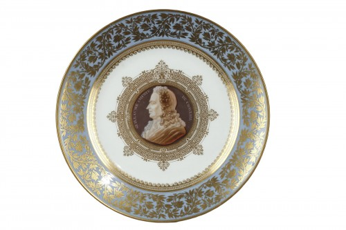 "Sevres porcelain plate from the""Service des Poètes"" circa 1843"