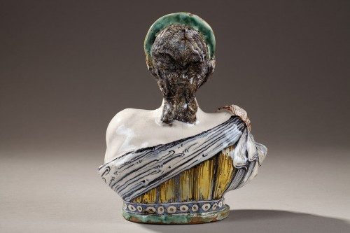 17th century - Faience Bust from Deruta, early 17th century