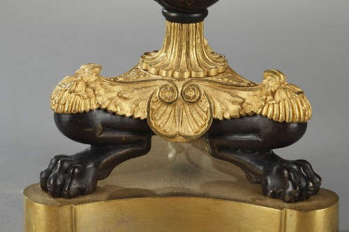 19th century - Paire of candlesticks, bronze early 19th century