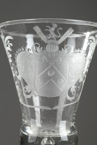 Glass & Crystal  - Armorial glasse, Holland, 18th century