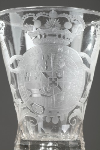 Dutch glass with the coats of arms of Holland, 18th century -