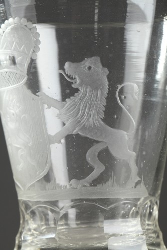 18th century - Dutch glass with the coats of arms of Holland, 18th century