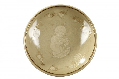 Sèvres porcelain bowl, year 1944 - Adrien LEDUC