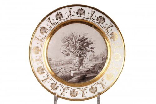 Early 19th century plate from Bringeon Manufacture in Paris