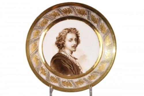 Plate depicting a self portrait of Van Dyck, Paris circa 1800 - 1810