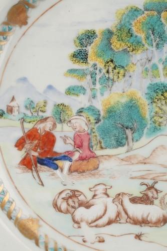 Rare chinese export ware plate, 18th century -