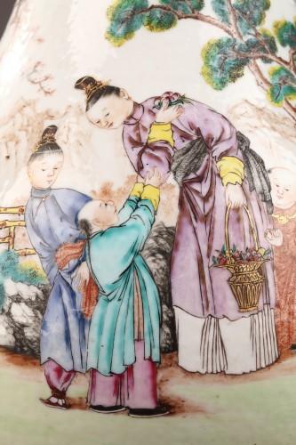 Porcelain & Faience  - Very large ewer Exportware China Qianlong period 1736 - 1795