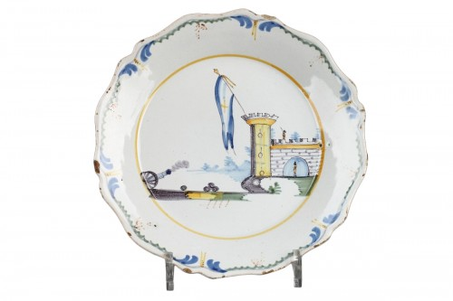 Revolutionary faïence plate Nevers end of 18th century