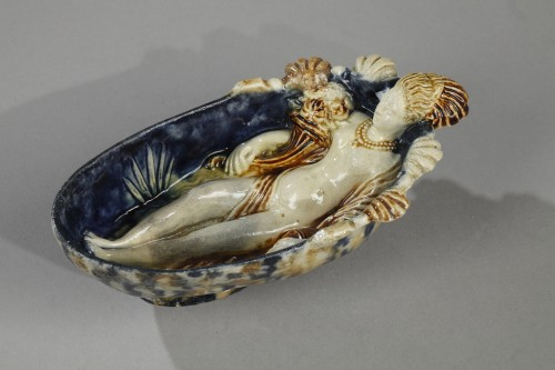 Porcelain & Faience  - MANHERBE - LE PRE D'AUGE  Cup. End of 16th century begining of 17th century
