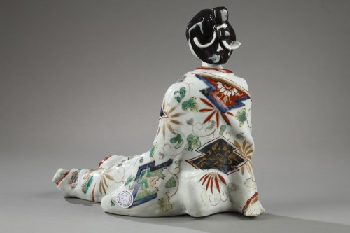 Inkwell in the shape of a BIJin. Japan GENROKU Period 1688 – 1704 - Porcelain & Faience Style