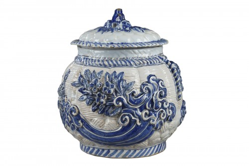 17th century Nevers faience pot-pourri