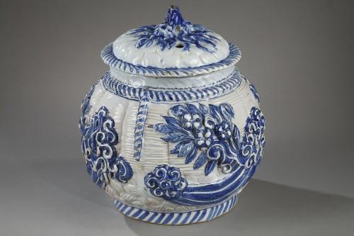 Porcelain & Faience  - 17th century Nevers faience pot-pourri