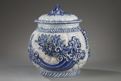 17th century Nevers faience pot-pourri -