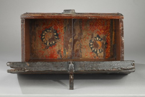 15th century wooden box from Grenada, Spain -