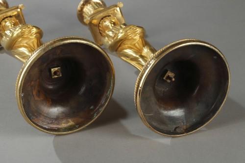 Pair of guilt candelabra, begining of 19 th century - Lighting Style