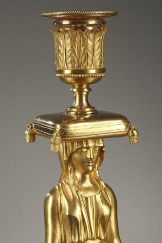 Lighting  - Pair of guilt candelabra, begining of 19 th century