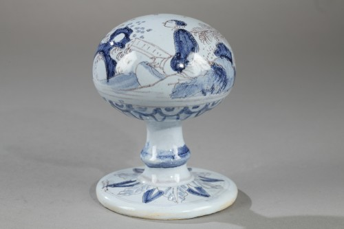 Porcelain & Faience  - Wigstand in Nevers faience second half of 17th century