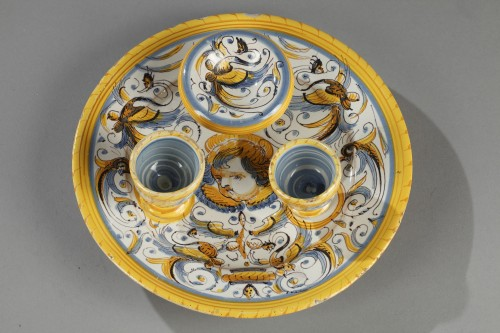Tray in faience from Deruta, Italy 17th century - Porcelain & Faience Style