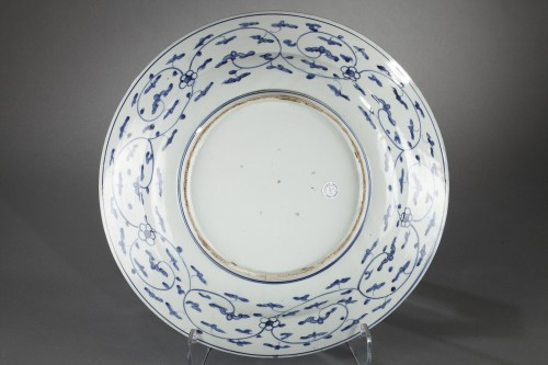 Large Kraak dish, Japan circa 1660 - 1680 - Porcelain & Faience Style