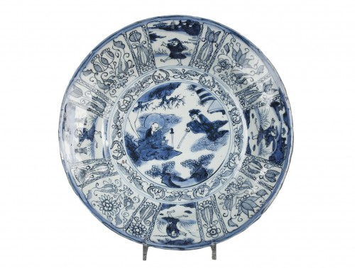 Large Kraak dish China Circa 1573 - 1619