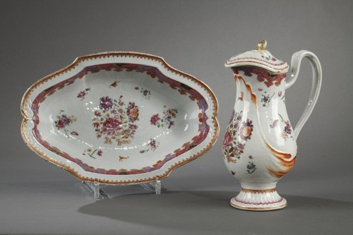 18th century ewer, chinese porcelain -