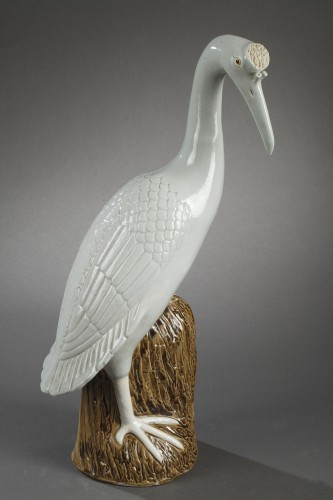 Pair of crown cranes in chinese porcelain, 19th century - Porcelain & Faience Style