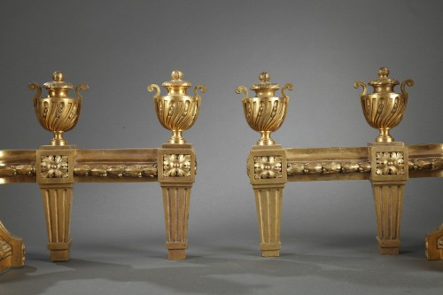 Bronze andirons 18th century - Decorative Objects Style