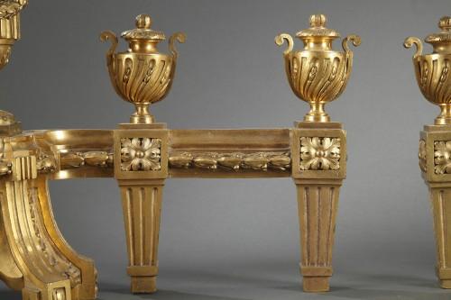 Decorative Objects  - Bronze andirons 18th century