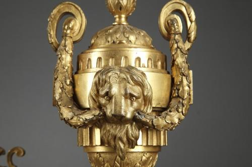 Bronze andirons 18th century -