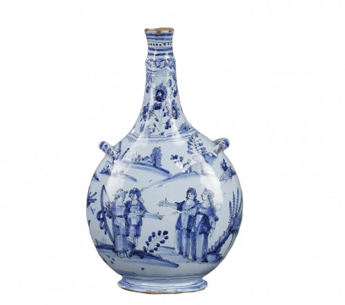 Nevers faience bottle Second half of 17th century