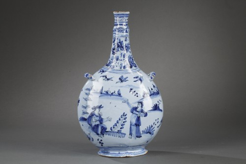 Nevers faience bottle Second half of 17th century -
