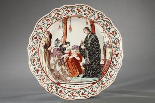 Delft Creamware plates, late 18th century -