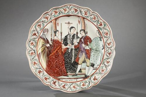 - Delft Creamware plates, late 18th century