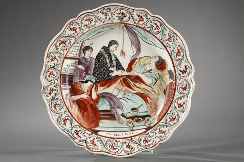 Antiquités - Delft Creamware plates, late 18th century