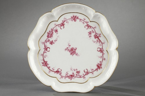 Sèvres tray and four small cups Sèvres 18th century -