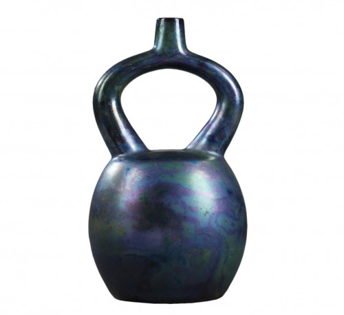 Vilmos Zsolnay Ceramic vase. Hungary. End of 19th century.