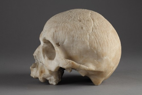 Alabaster skull, 16th century - Curiosities Style