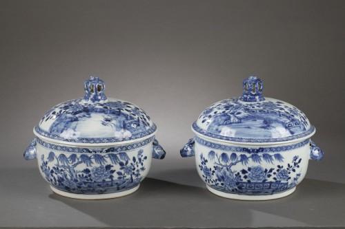 18th century - Pair of chinese porcelain tureens, Qianlong 1736 - 1795