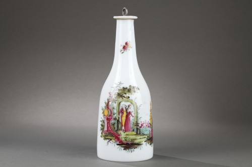 Paire of opaline glass bottles End of 18th century - Glass & Crystal Style