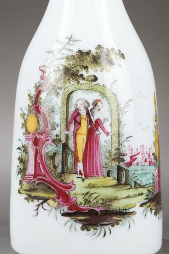 Glass & Crystal  - Paire of opaline glass bottles End of 18th century
