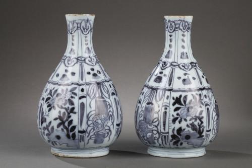 - Pair of Delft Faience vases from De Grieksche A. Second half of 17th c.