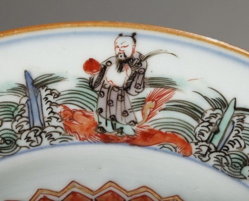 Porcelain & Faience  - Chinese porcelaine famille verte plates Kangxi period 1662 - 1722