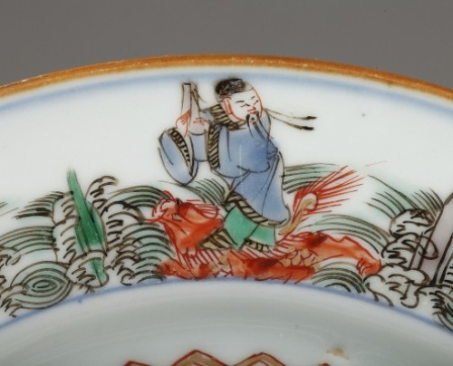 - Chinese porcelaine famille verte plates Kangxi period 1662 - 1722